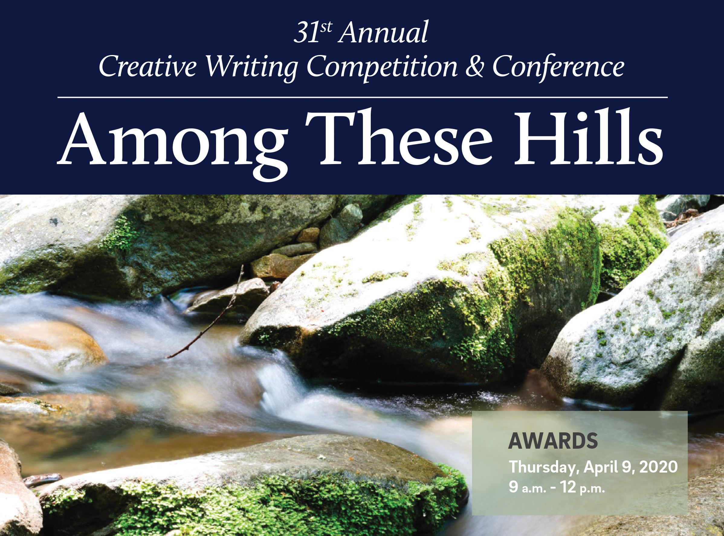 30th Annual High School Creative Writing Competition.