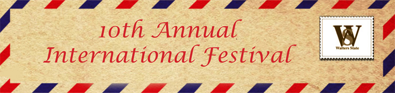10th Annual International Festival. October 7 and 8, 2013.