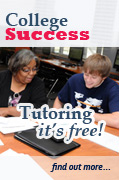 The college success center offers free tutoring. Click to find out more.