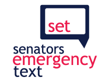 senators emergency text